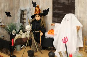 On décore la grange pour halloween!!
