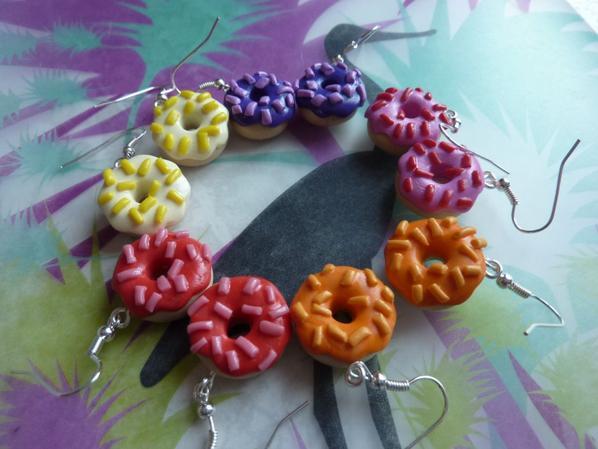 Farandole de donuts multicolor