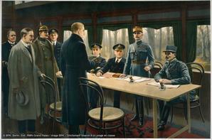Armistice 11 Nov 1918.