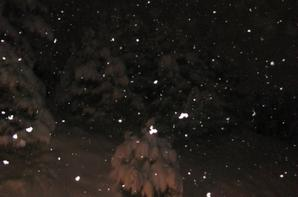 30 � 35 cm de neige en une nuit  en Haute Savoie