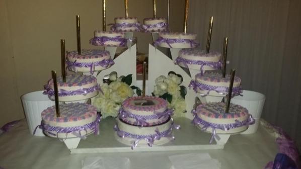 Pi�ce mont�e couleur violet