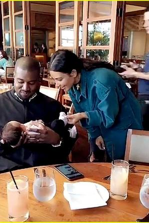 Kim Kardashian & Kanye West Meet the daughter of John Legend and Chrissy Teigen