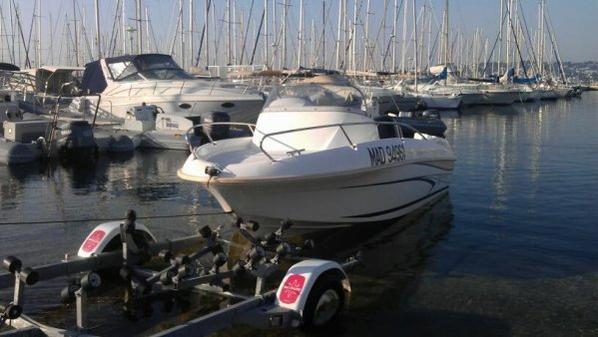 Sorti en mer avec mon bateau
