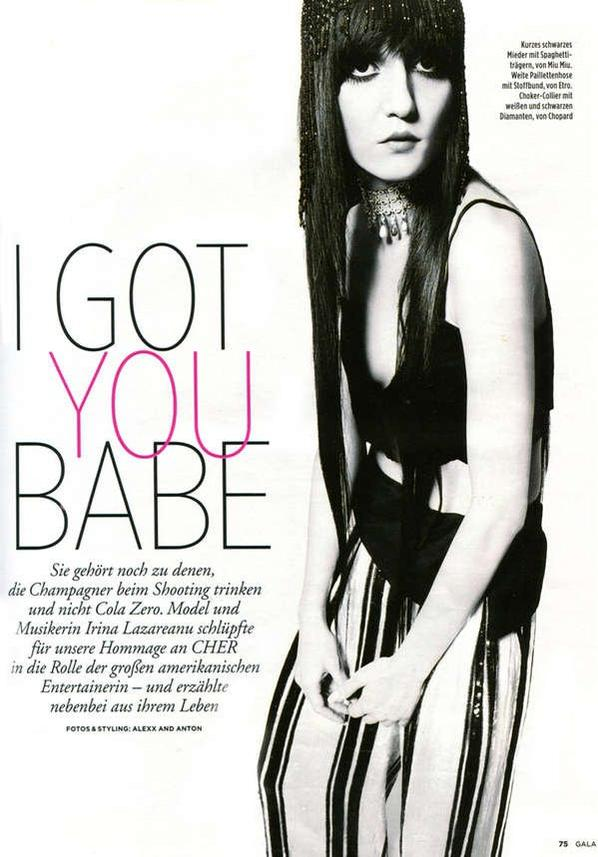 irina lazareanu channels cher for gala germany by alexx and anton-5