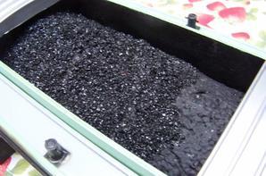 La peniche Jocelyne, New Maquette avec sa cargaison de charbon.