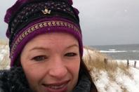 Neige au bord de la baltique