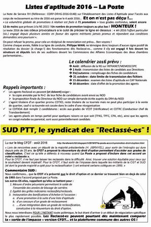 TRACT RECLASSE(E)S Ao�t 2016