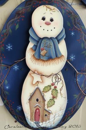 """Plaque de bienvenue """"Bonhomme de neige"""" mod�le de JMP..."""