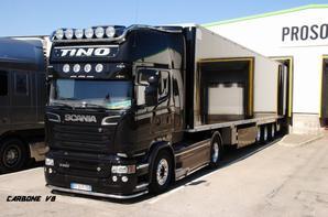 TINO Trans. Chateaurenard. Ao�t 2016. Scania R520.