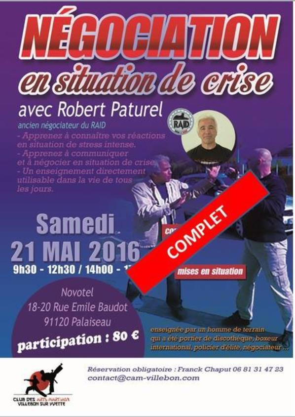 Formation N�gociation sous la direction de Robert Paturel le 21 mai 2016