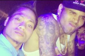 """Chris Brown hier � la boite de nuit """"Le club royale"""" (le 01 Juin)"""