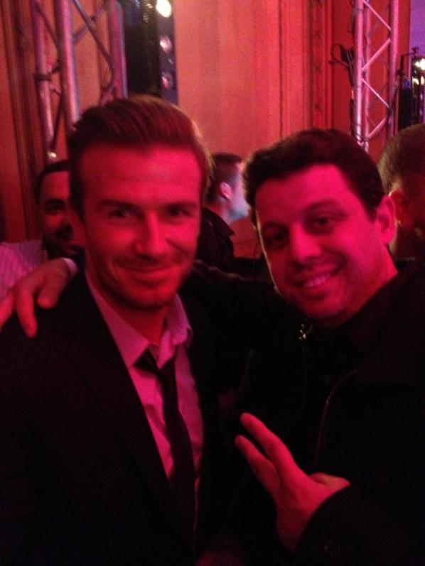 Hier soir C�dric a rencontr� David Beckham et Zlatan Ibrahimovic