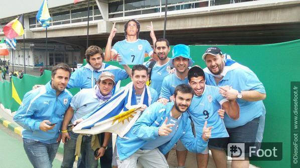 Ambiance avant le match uruguay – Angleterre
