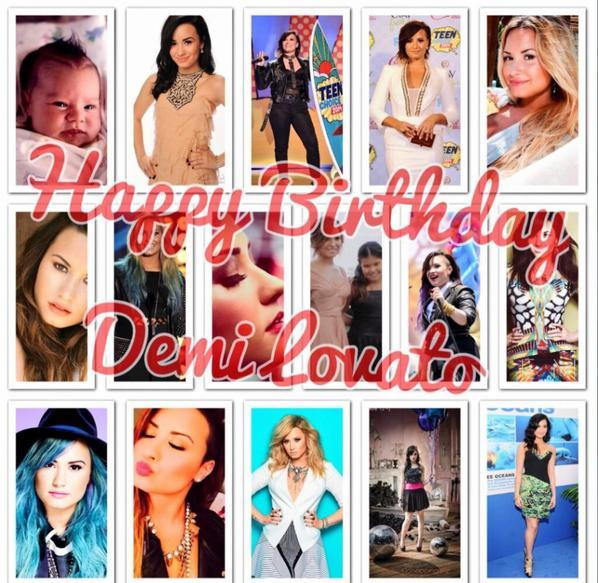 Joyeux anniversaire Demi
