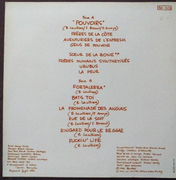 Lavilliers Album Pouvoir 1979 Vinyle