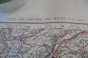 carte d etat major allemande pour l invasion du royaume uni