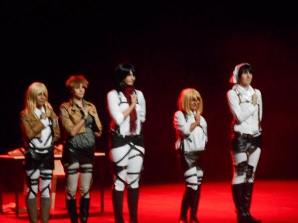 Cosplayers Shingeki no Kyojin