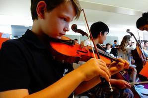 L'orchestre studieux de ce matin ...