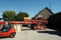 Oignons rouges charge Hoeve Den Uil Herkingen Pays-Bas.