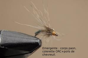 Mouches nymphes, �mergentes, s�ches en ORC et Dubspeed d'Edouard Zauner.