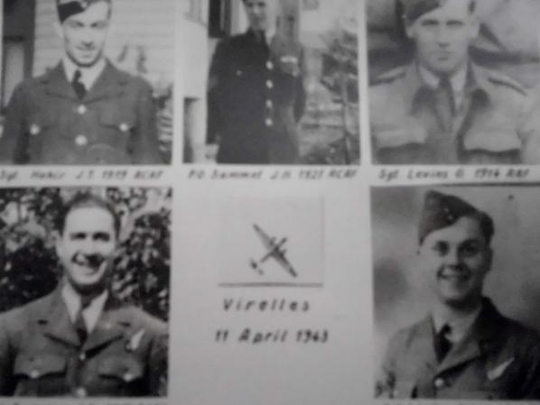 Pi�ces du Wellington tomb� � Virelles le 11 avril 1943