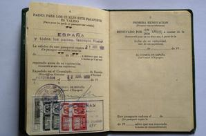 pasaporte espana ( passeport espagnol de mon arri�r� grand m�re dat�  de  22.03.1959)