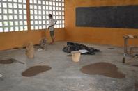 Chantier de rénovation de bâtiment scolaire