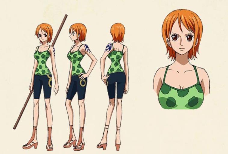 Character Design One Piece : Nami special kokaishi no namida to nakama kizuna