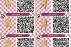 Motif 1596 l 39 atelier des soeurs doigts de f e for Carrelage kitsch animal crossing new leaf