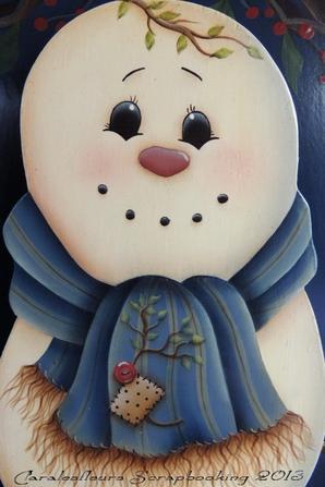 plaque de bienvenue bonhomme de neige mod le de jmp claralesfleurs peinture d corative. Black Bedroom Furniture Sets. Home Design Ideas