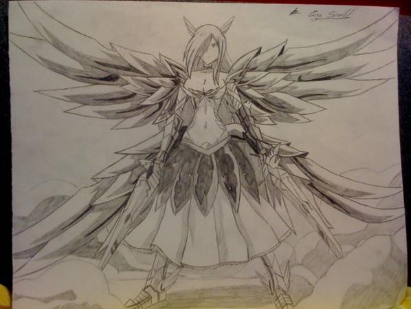 Comment dessiner erza - Dessin armure ...