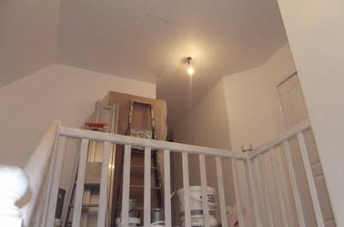 Peintures de la cage d 39 escalier et du palier termin es for Peinture escalier v