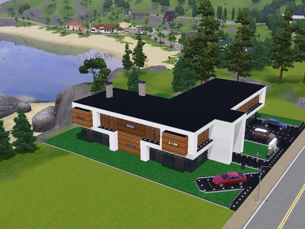 Maison Individuelle Moderne Sims 3 Cr Ation Architectural