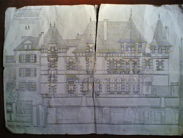 Des vieux plan de la maison mantin g rard du r ve - Maison mantin moulins 03 ...