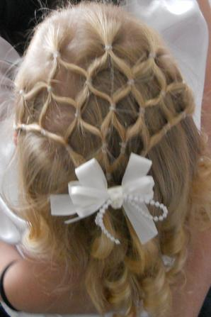 Communiante demoiselle d 39 honneur ou ceremonie coiffure a - Coupe demoiselle d honneur ...