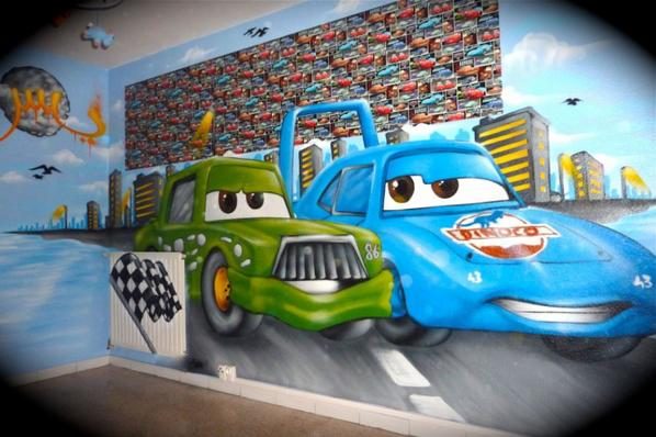 Articles de decorationgraffiti tagg s cars flash mc queen for Decoration chambre cars