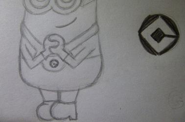 comment dessiner un minion facile