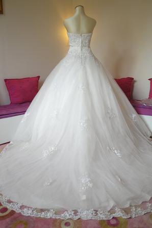 robe de mari e collins pronuptia t38 blanc cass