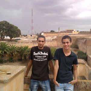 moi et mon cousin youcef  a la zaouia