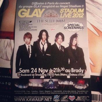 Le 1er évènement Glay en France & les 2 prochains albums en détail !!!!!!!