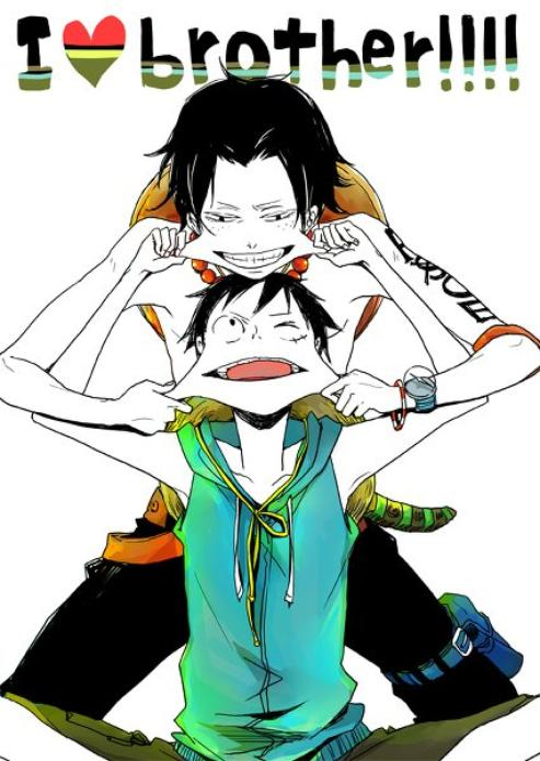 Luffy and Ace <3