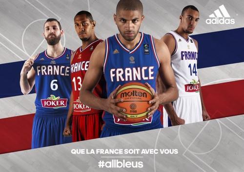 Adidas d�voile les nouveaux maillots de l'Equipe de France de Basket