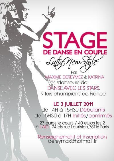 Stage : Paris .