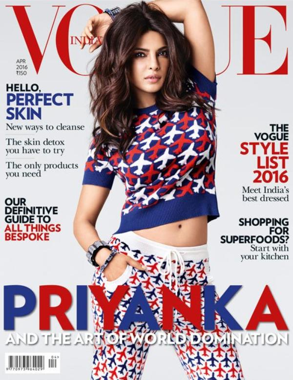 � Priyanka Chopra en magazine VOGUE INDIA - Avril 2016 !