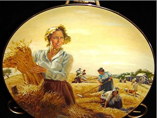des assiettes sur la maison dans la prairie de lauraa ingalls