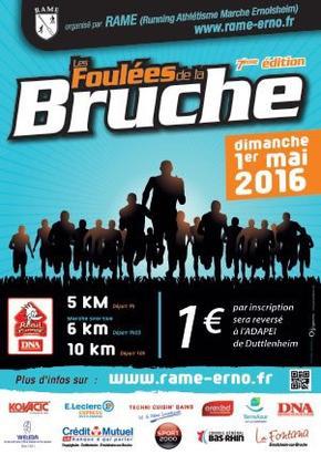 7es FOULEES DE LA BRUCHE � Ernolsheim: BOUE, VIGNE, BRUCHE ET SPRINT