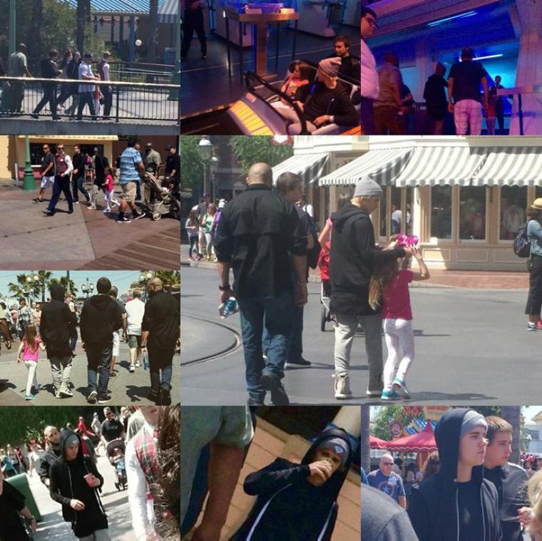 Justin de retour en Californie.