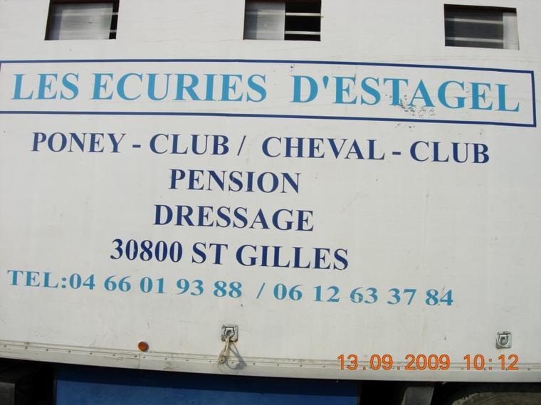 R�sultats du premier concours de la saison 2014 - 2015 Au �curies d'Estagel A Saint-Gilles (Dressage) 07 septembre 2014