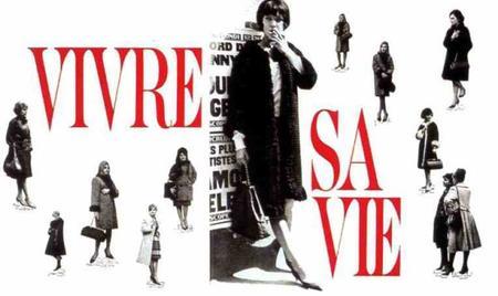 """1962- Affiche du film """" vivre sa vie """" avec Anna KARINA et Jean FERRAT"""