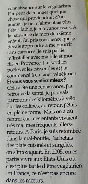 "News presse : INTERVIEW ""ICI PARIS"" (n� 3689 - 16 mars 2016)"